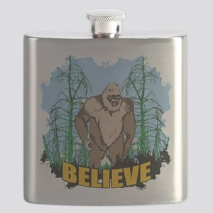 Believe in Bigfoot 3 Flask